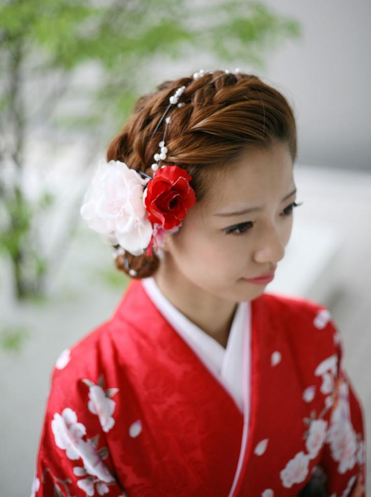 結婚式のお呼ばれにもOK!和装に似合うショートの髪型(ヘアスタイル)アレンジ