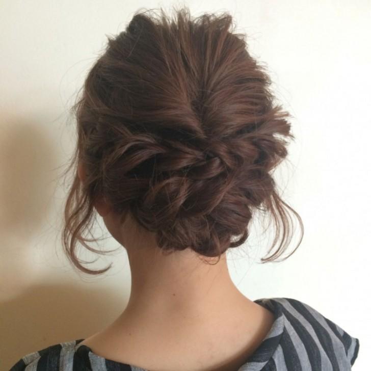 結婚式お呼ばれの忙しい朝でも自分で簡単に出来る髪型 ...