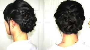 結婚式の黒髪ミディアムヘアアレンジを紹介♪