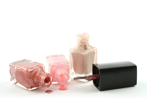 Nail Polish against a white background